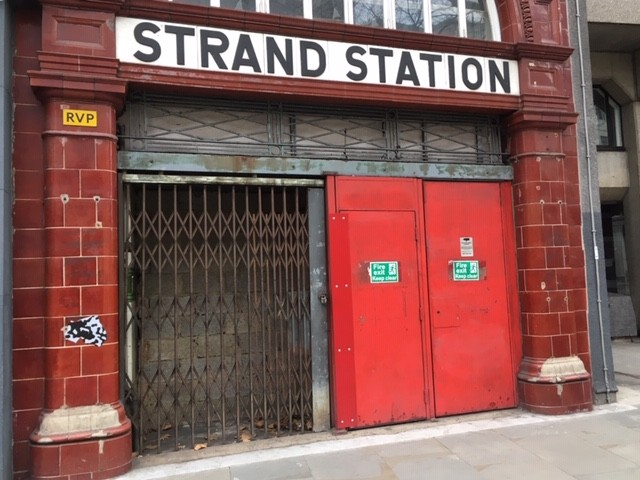 Entrance to Aldwych (Strand) Station