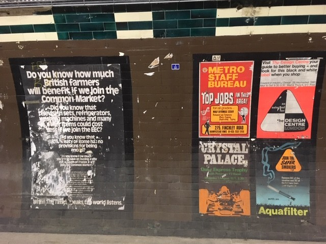 Aldwych Station adverts
