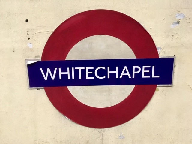 Whitechapel sign - in Aldwych