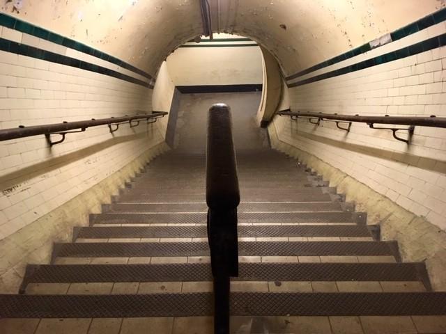 Deserted Aldwych underground station