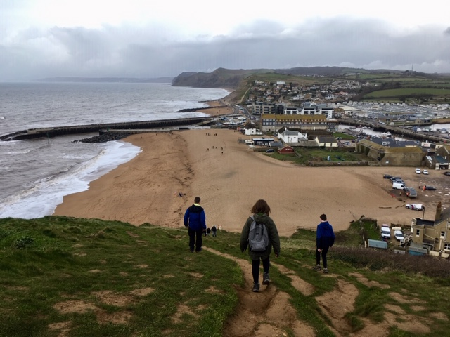 Walking back down to West Bay