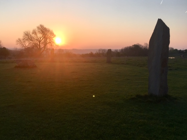Thistledown stone circle at sunrise