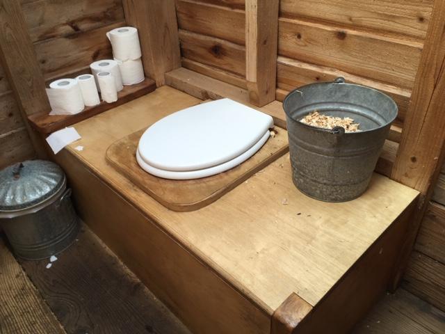 Compost toilet, Thistledown Farm