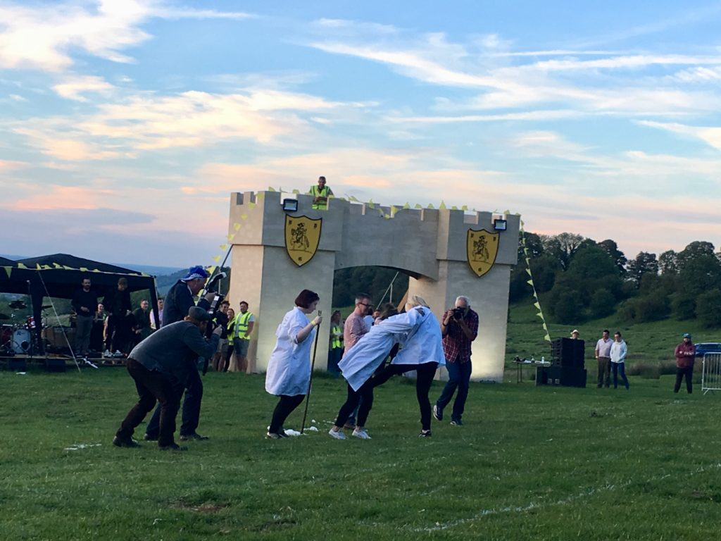 Shin kicking championship at Cotswold Olympicks, Chipping Campden
