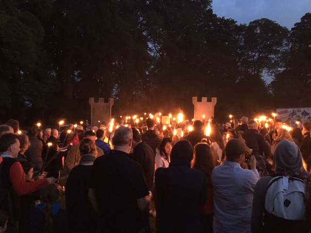 Torchlit procession back to Chipping Campden