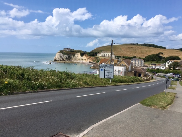 Road out of Freshwater Bay
