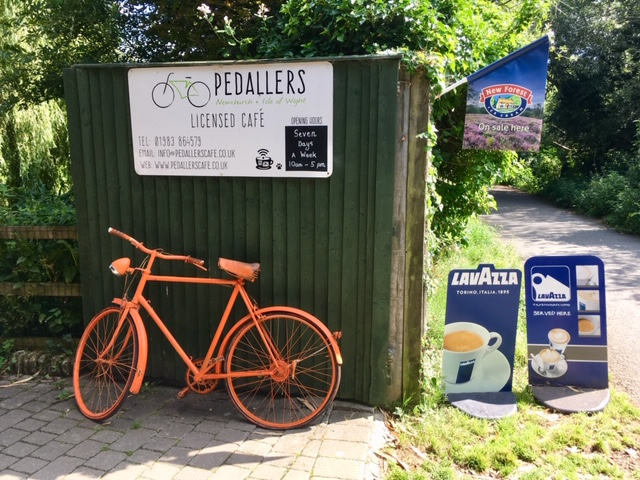 Pedallers, cafe on the Red Squirrel Trail