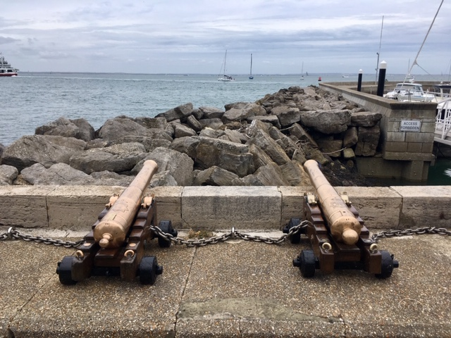 Cannons at West Cowes