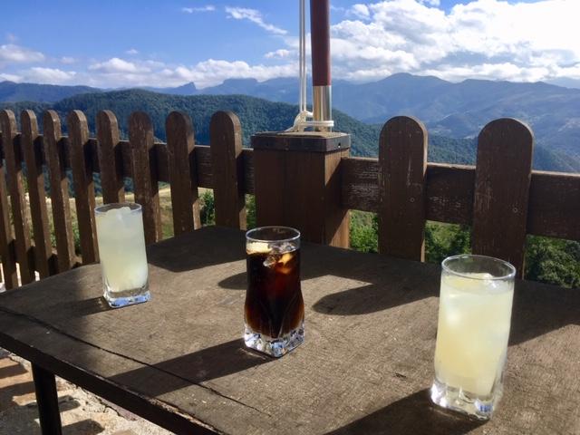 Terrace drinks, Casa Lamadrid, Cahecho