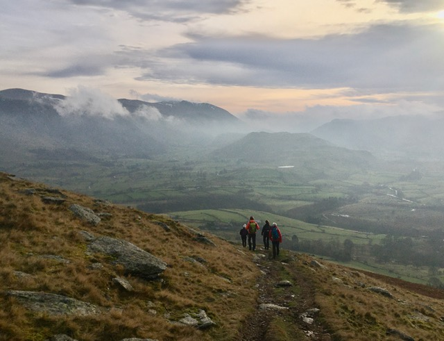 Winter walks from Keswick; Blencathra and Ullock Pike, Lake District