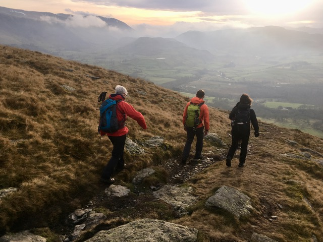 Descent from Blencathra