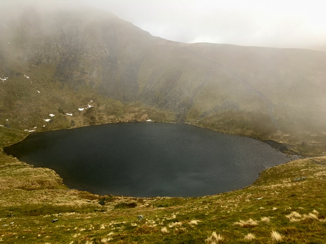 View of Scales Tarn from Blencathra