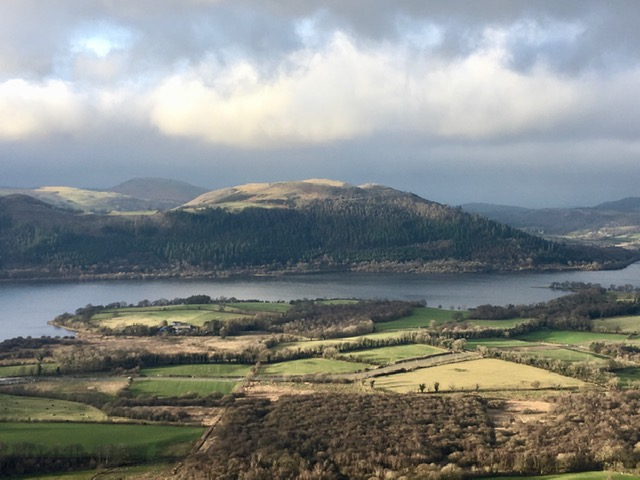 Bassenthwaite Lake from slopes of Ullock Pike