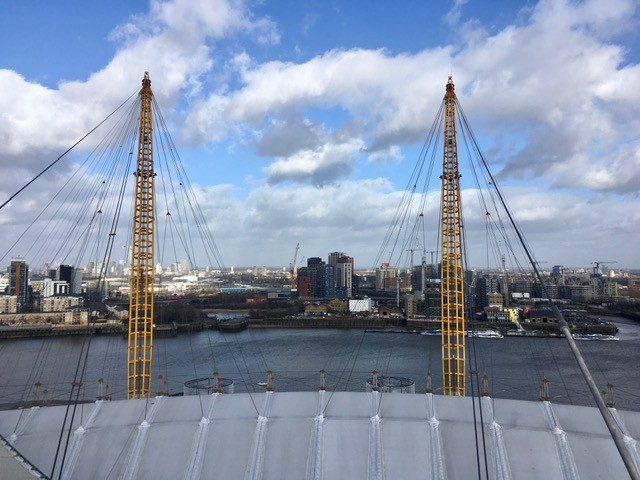 Up at the O2, London