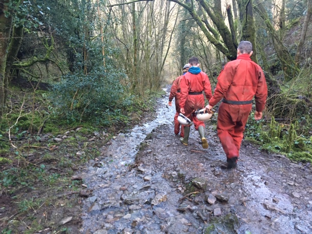 The end of our caving expedition, Burrington Combe