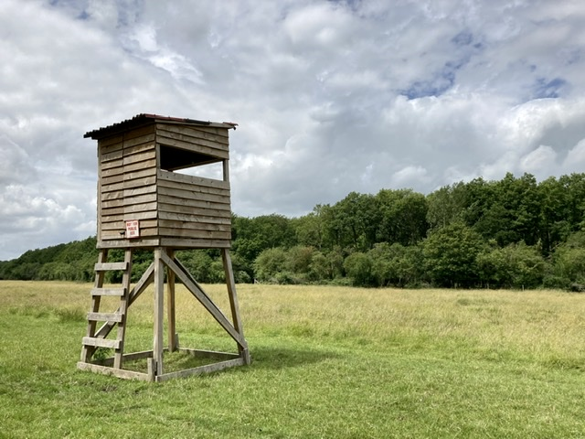 Wooden shooting tower